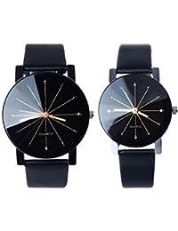 Queta Fashion - Reloj de Pulsera para Pareja, Estilo Informal, para Hombre y Mujer