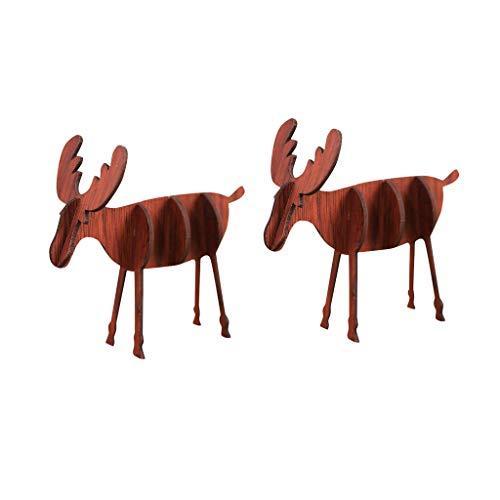 Vijtian - mini alce in legno fai da te per decorare la tua casa con estetica e bellezza, a