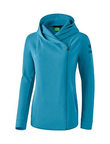 Erima Veste Essential Veste de survêtement à capuche pour femme Niagara/Ink Blue