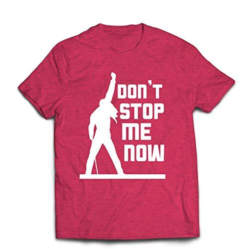 hirt Don't Stop me Now! Fan Shirts, Musiker Geschenke, Rock Kleidung (Small Heidekraut Rot Mehrfarben) ()