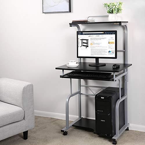 Mobili Porta Computer Prezzo.Songmics 70 X 66 X 130 Cm Scrivania Per Mobile Computer Scrivania