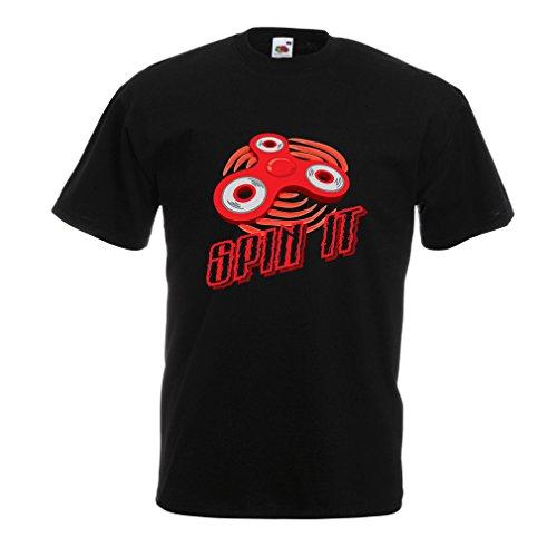 """Männer T-Shirt Spin It - für wer liebt es, das """"Fidget Spinner Spaß Spielzeug"""" zu spielen Schwarz Mehrfarben"""