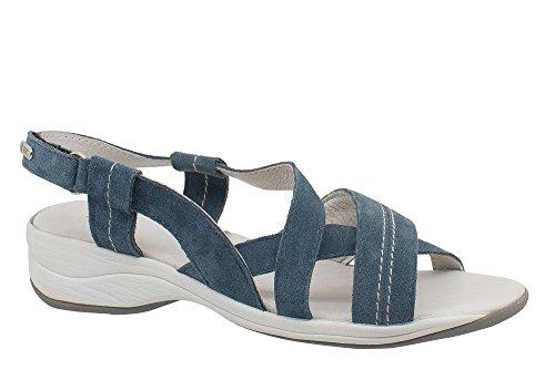T-Shoes - Ibiza TS019 - Sandale en suede avec semelle interieure Ortholite Bleu