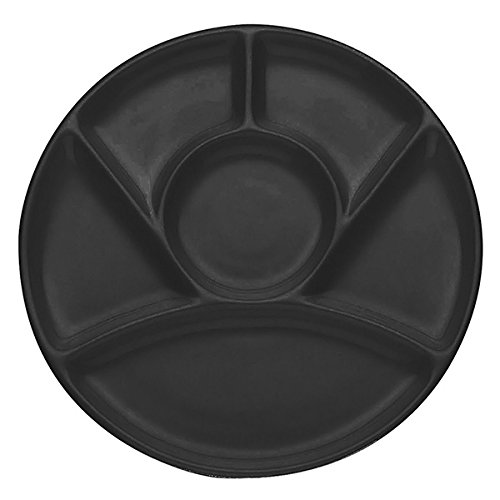 Kela Chalet Fondue Käsefondue Teller, Keramik, Schwarz, 23cm