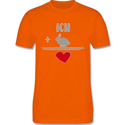 Sonstige Tiere - Hasen-Liebe - Herren Premium T-Shirt Orange