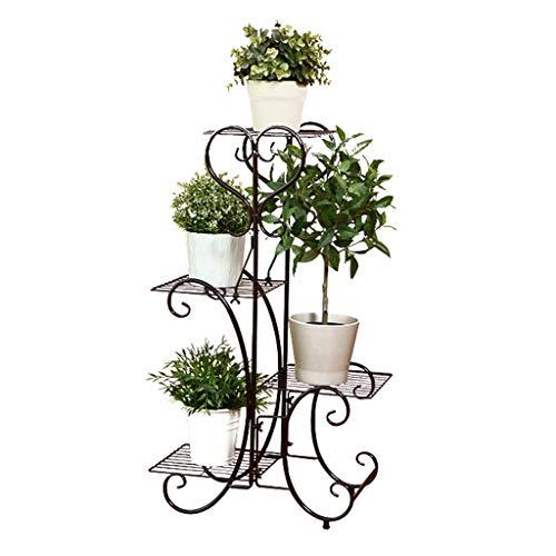 Pflanzenregale Metallblumentopf-Gestell-Blumen-Stand-Speicher-Regal-Gestell für Innenbalkon, 4...