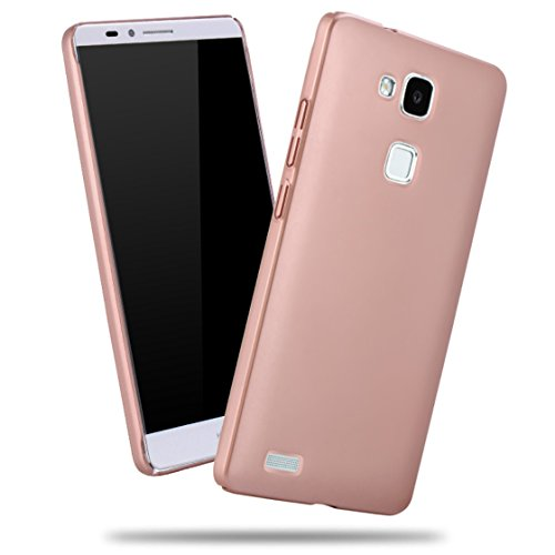 Apanphy Huawei Mate7 Hülle , Hohe Qualität Ultra Slim Harte Seidig Und Shell Volle Schutz Hinten Haut Fühlen Schutzhülle für Huawei Mate7, Roségold