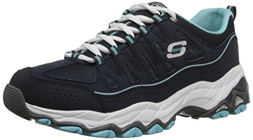 Skechers Encore be Seen, Baskets Basses femme Bleu - Blau (Nvlb)