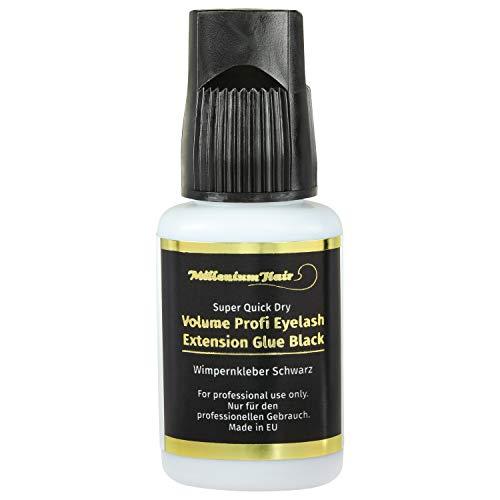 MilleniumHair Super Quick Dry Wimpern-Kleber/Lash-Kleber für Volumen-Technik schnelltrocknend: 10g (schwarz)