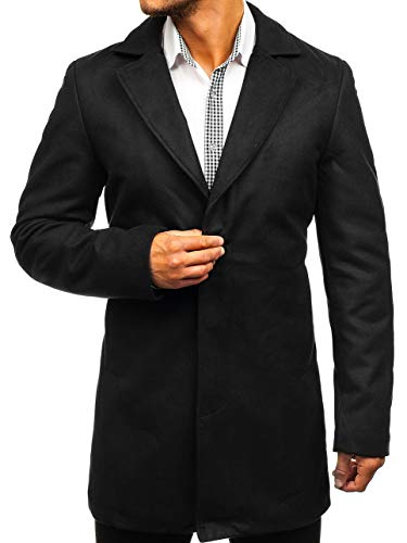 a0031f954543 BOLF Cappotto – con Cerniera – con Bottoni – Monopetto – Collo Revers –  Semi Elegante