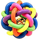 The Pets Company Rubber Knot Chew Ball with Bell, for Puppy and Kitten