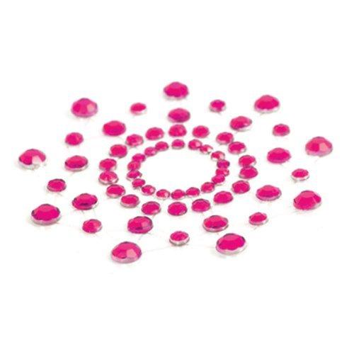 Bijoux Indiscrets Mimi, aufklebbarer Brustschmuck aus Strass pink, 1er Pack (1 x 2 Stück)