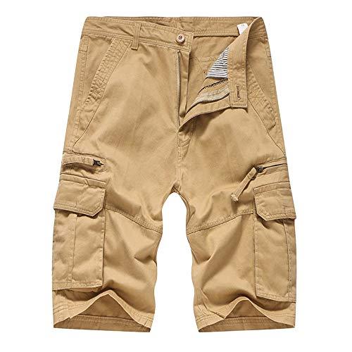 ★AG&T★ Tune-Up Shorts Cargo de Travail - Pantalon Court avec Les Poches Latérales