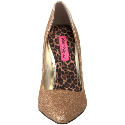 Betsey Johnson Ice Femmes Synthétique Talons gold