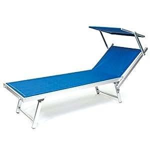 Lettino spiaggia prendisole rimini blu in alluminio for Arredo giardino rimini