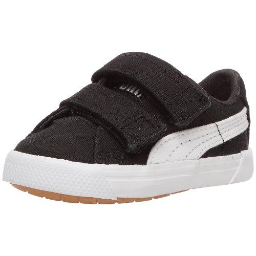 Puma Benecio Canvas V Kids 351507 Unisex - Kinder Sneaker, Schwarz / Weiß, 27 EU (Puma Kleinkind-mädchen-schuhe Weiß)