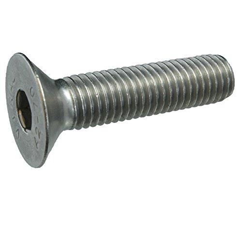 25 Senkkopfschrauben Edelstahl M12 x 50 mm – ISO 10642 / DIN 7991 – Senkschrauben mit Innensechskant und Vollgewinde – Werkstoff A2 (VA / V2A)