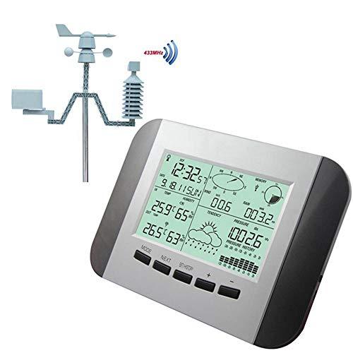 ZKDY Registratore di Dati Professionale di Pressione della Pioggia di umidità del Termometro della Stazione Metereologica di 100M con Il Centro Meteorologico Senza Fili di Energia Solare del Pc