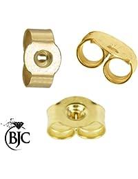 1x par (2) pequeño 9ct oro mariposa pendientes de espalda Scrolls ajuste a presión 0,95(4mm x 3mm)