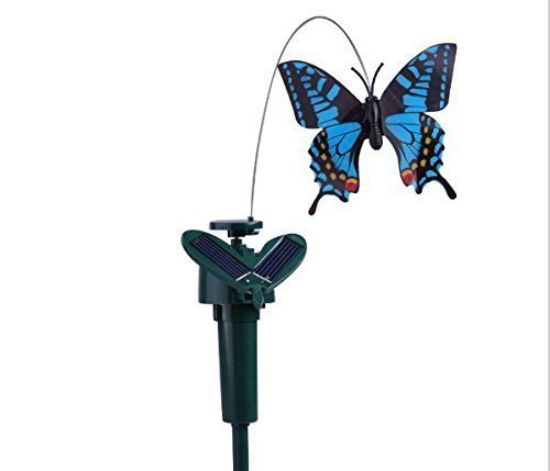urgrace 1pcs de Maison de jardin décor de vibrations solaire de Danse de mouches de papillon artificielle flatterndes mouches de simulation de couleur de papillon ranodm