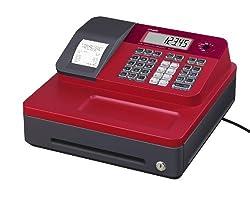 Casio SE-G1SB-RD Registrierkasse mit kleiner Geldlade, Thermodruck Kundenanzeige, rot - Für Deutschland und Österreich nicht geeignet