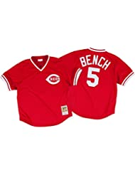 Johnny Bench Cincinnati Reds Mitchell & Ness Authentic 1983 Batting Practice Jersey