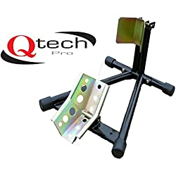 Qtech Motorcycle Bike Front Wheel Stand 12-19 Inch Tyre Stand Adjustable Mounting Stand Garage Universal Fit with Heavy Duty Construction