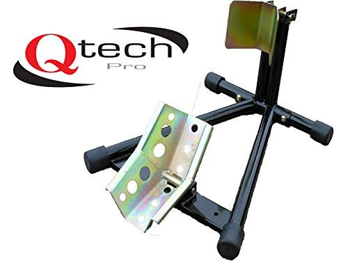 Qtech Motorrad Bike VORDERRAD-STANDSCHIENE 12-19Zoll Reifen STÄNDER Einstellbarer Montageständer Garage universelle Passform mit strapazierfähiger Konstruktion