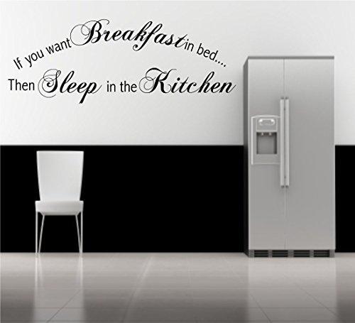 Wall Smart Designs Wand Aufkleber Abziehbild Wand Kunst Quote Phrase Küche Dekoration