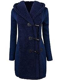 JURTEE Damen Winter Mäntel,Winterjacke Warm Plus Dick Warm Tasten Mantel Mantel Parka Kapuzenpullover Outwear Tasche Mäntel Outdoorjacke