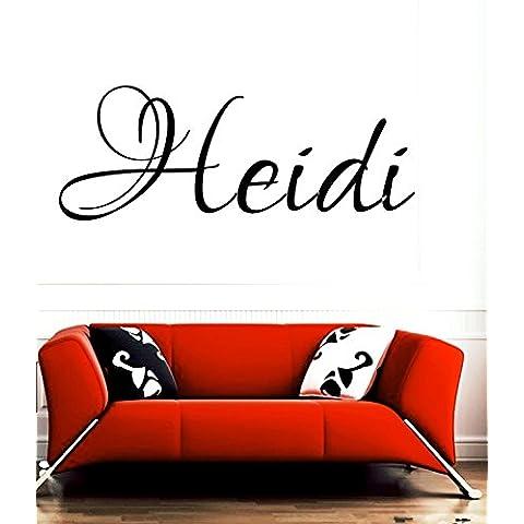 Heidi nome di bambina o bambino Nome Nome della Stanza da parete Citazione Arte in vinile