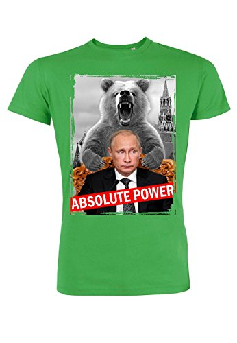 rs46 T-shirt for men Leads Absolute power, Größe:S;Farbe:Green