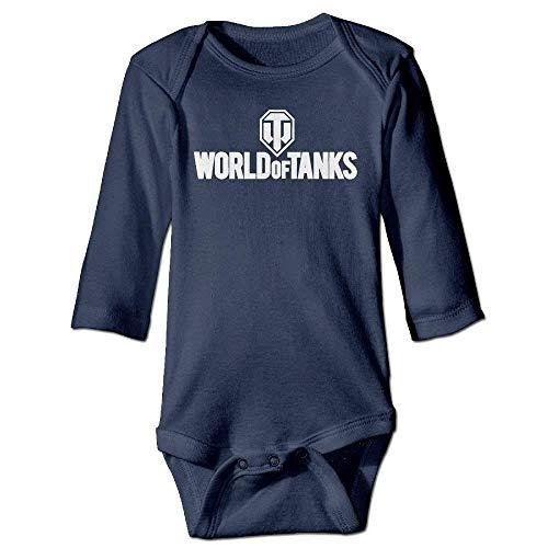 VTXWL Unisex Newborn Bodysuits World of Tanks War II Boys Babysuit Long Sleeve Jumpsuit Sunsuit Outfit Navy