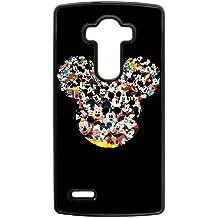caso de Mickey Mouse 0o8783 lg teléfono celular g4 caso funda 6llu71 negro teléfono funda duro de nuevo