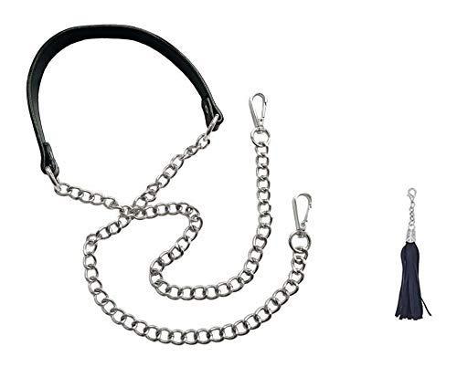 Beaulegan Schulter- und Umhängetasche, verstellbar, 130 cm lang und 2 cm breit L silber Slv Tasche