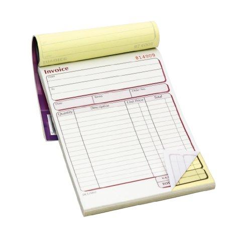 Pukka Pad Quittungsblöcke, 2Durchschläge, kohlefreies Durchschreibepapier, Rechnung Buch 137x 203mm, 5Stück