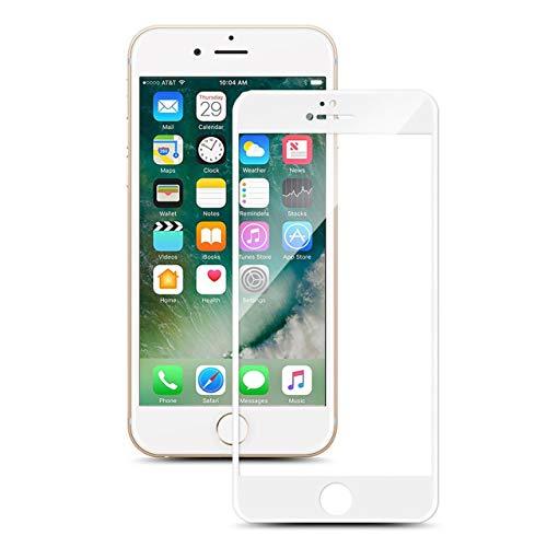HULI Full Screen Cover iPhone 6 Plus / 6s Plus in Weiß - Splitterfeste und passgenaue 3D Panzerglas Schutzfolie - Displayschutz für iPhone 6 Plus und iPhone 6s Plus