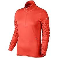 Nike Thermal 1/2 Zip Camiseta de Manga Larga de Golf, Mujer, Naranja (MAX Orange/MAX Orange/Wolf Grey), 2XL