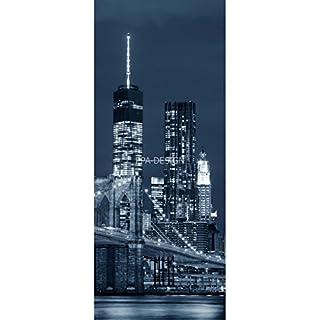 Sticker autocollant frigo New York 70x170cm SAEFR1072 (Fond Blanc)