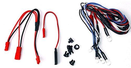 Turnigy - Kit de iluminación LED para coche (escala 1:10, 2 faros delanteros, 2 perros, 2 ledes traseros)