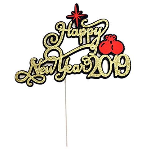 KAIMENG 10 Stücke Kuchendeckel Frohes Neues Jahr 2019 Buchstaben Cupcake Dekorationen Hochzeit Birthday Party Supplies