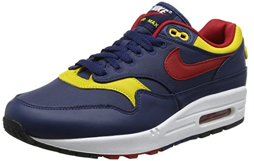 Nike Herren Air Max 1 Premium Gymnastikschuhe Blau (Navygym Redvivid Sulfurwhit 403)