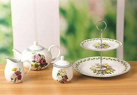 4 pièces avec Set à thé Spring