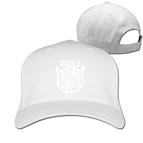 48a2be16649 Baseball Hats J Cole Born Sinner Album Logo Adjustable Cap Black - White -