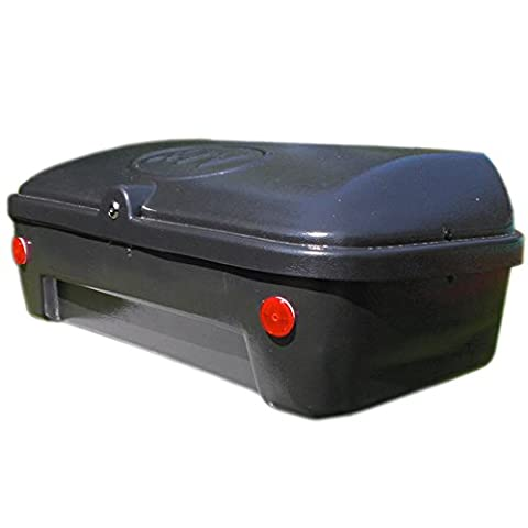 90 Liter Universal ATV - Quad Top Case Cargo Box, made from ABS plastic, lockable and incl. backrest and mounting material and reinforced ground