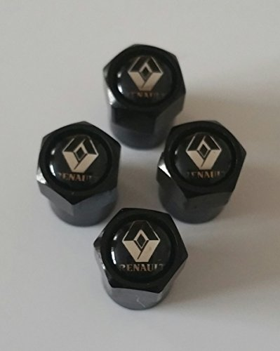 Renault Set di 4 Tappi coprivalvola per Pneumatici, Clio, Megane Twingo, Captur Scenic
