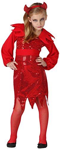 in Kostüm, Größe 104, schwarz/rot (Teufel Kostüm Kleid Schwarz)