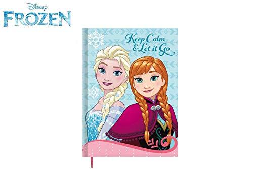 Takestop® diario disney frozen elsa anna principesse olaff cartone animato diario scuola scolastico agenda compiti appunti bambina bambino idea regalo banco