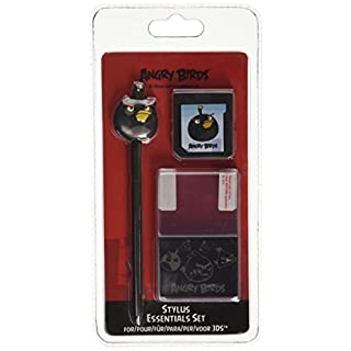 Angry Birds Stylus Essentials Set - 3PC: Black Bird (Nintendo 3DS/DS)