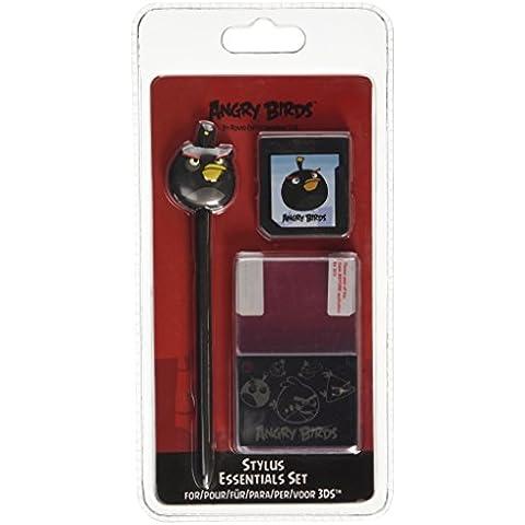 Angry Birds Black Bird Stylus Essentials Set (3pc) for Nintendo 3DS – 35195